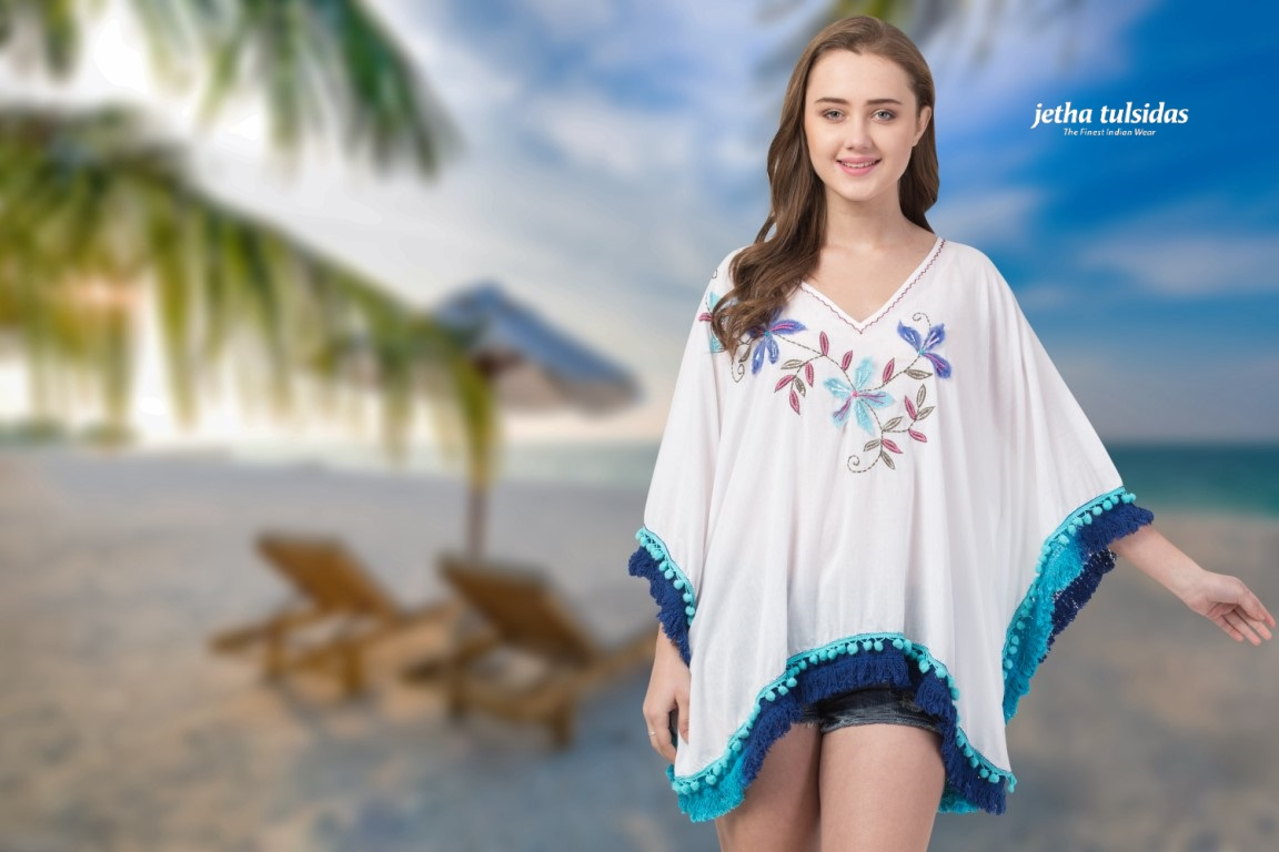 BEACHWEAR-LAD KAFTAN-COTTON