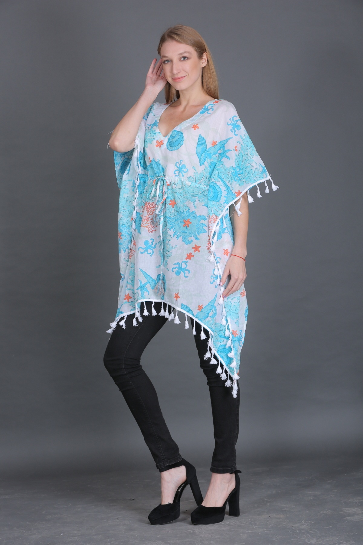 BEACHWEAR-KAFTAN-COTTON