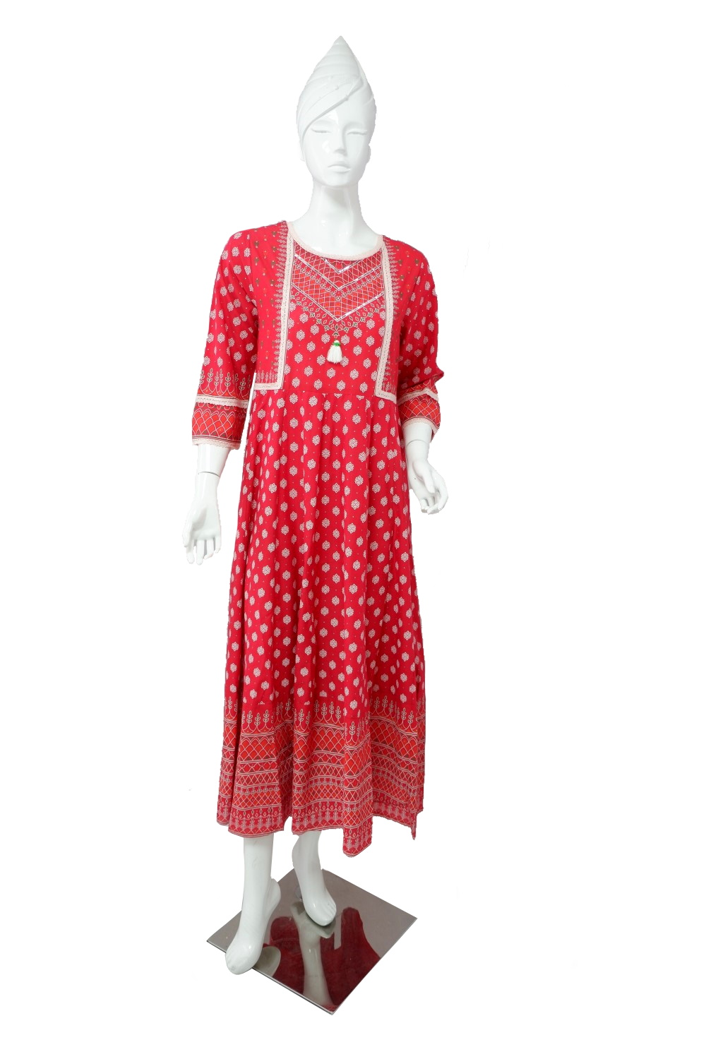LAD KURTI-COTTON-LONG